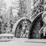 Hébergement style chalet en hiver